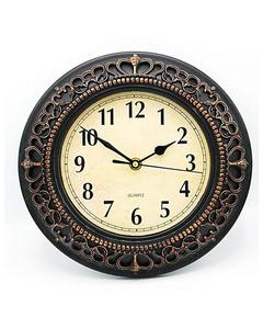 Antique Style Wall Clock - Brown - 10X10""