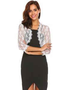 White Mix Cotton Long Sleeve Coat For Women