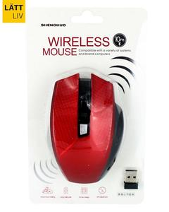 Super Comfort 6 Button Wireless Mouse (Red)