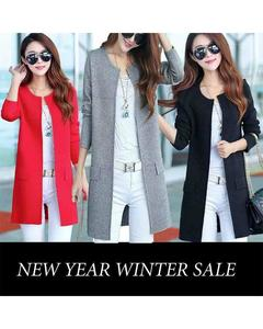 Multicolour Long Coat For Women