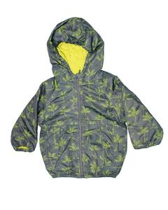 Stylish Green Printed Zipper Hoodie Jacket for Boy