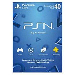 SonyPlayStation Credits for PS4, PS3 & PSVita - Singaporean Dollars 40