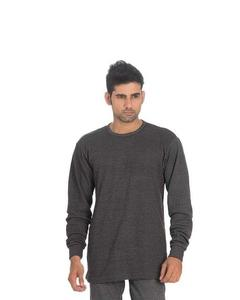 Grey Viscose Sweatshirt For Men
