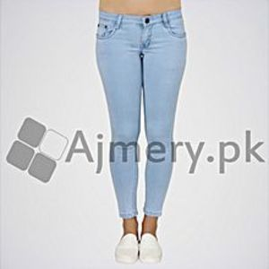 The Ajmery Women's Light Blue Mid Rise Regular Jeans. ABR-05