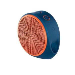 Logitech X100 - Mini Wireless Portable Speaker - Orange & Blue