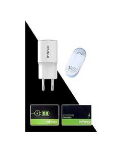 Product details of Charger With Usb Cable For Infinix X551 / X552 / X554 / X521 / X522 / X557 / X555 / X600 / X601 / X602 / X603 / X559 / X5010 / X571 / X572 - White Original Infinix Mobile Accessories Seal Box Support Adaptable Fast Flash Charging I