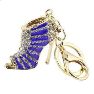 Novelty High Heel Shoes Keychains Rhinestone Shoe Handbag Key Holder