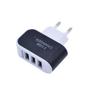 Universal 3 Ports USB Wall Charger Home Travel AC Charger Adapter EU-Plug for Tablets Smartphones