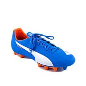 PumaElectric Blue Leather Football Shoes For Boys - 10328603-UK Size