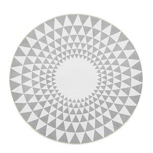 80CM Grey Triangle Round Carpet Living Room Area Rugs Yoga Floor Mat