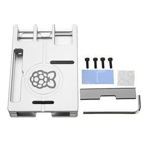 Ultra-thin Silver Aluminum Alloy CNC Case Portable Box Support GPIO Ribbon Cable For Raspberry Pi 3 Model B 2 B / B+