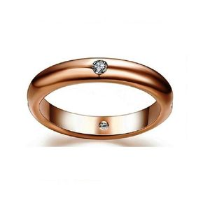 Gold Color 4 Zirconia Ring for Women AAA Quality
