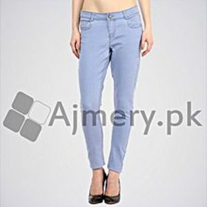 The Ajmery Women's Blue Solid Skinny Fit Jeans. ABR-06