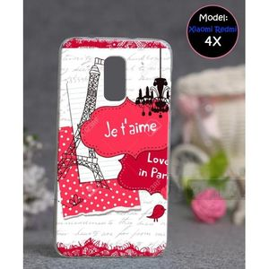 Xiaomi Redmi 4X Mobile Cover Eiffel Tower Style - Pink