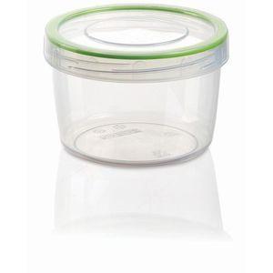 Plastic Round Food Box & Screwed Storage Container 0.8Liter - Multicolour