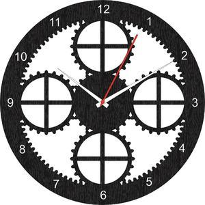 Wooden clock wall clock laser cutting antique wooden clock