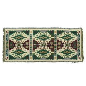 Bohemian Boho Throw Rug Couch Lounge Sofa Chair Blanket Bed Sheet Green 90x210cm