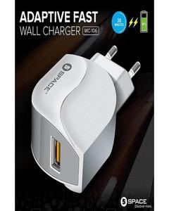 Charger for Mobile Android WC-106 Fast Charger - White