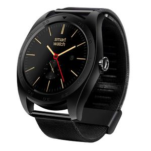 K89 Classic Watch Design Metal Band Bluetooth 4.0 Heart Rate Smart Watch, Pedometer / Sedentary Reminder / Sleep Monitor / Remote Capture / Anti-lost (Black)