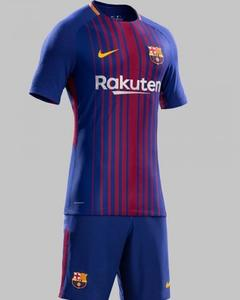 Gold Star 2017-2018 Barcelona Home Colour Football kit