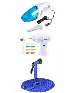 Pack Of 3 - Car Vacuum + Magic Hose + Wax Vac Ear Cleaner