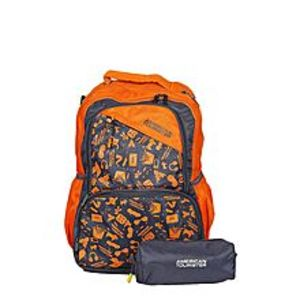 American TouristerPack of 2 - At Doodle I Backpack + Pencil Case - Orange Peel