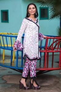 SITARA STUDIO Sapna Collection 2019 Multicolor Lawn 2PC Unstitched Suit For Women - 6144 A  (Un-stitched)