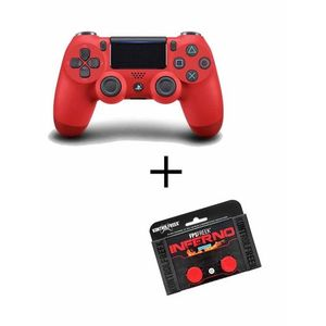 Playstation 4 Dualshock Controller With Analog Extender - Red