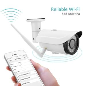 IP Bullet Camera - 1080P WiFi Wireless - Indoor/Outdoor Security Surveillance System - 4 X Zoom in/out - Remote Viewing