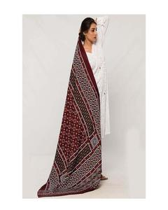 Rex Bazar - Multicolor Printed Sindhi Ajrak Shawl For Women