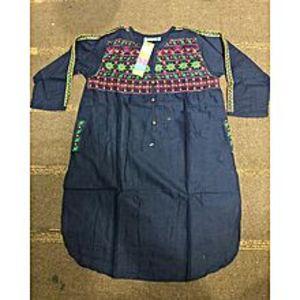 StoreNStoreLolly Pop Embroidered Blue Kurti For Women
