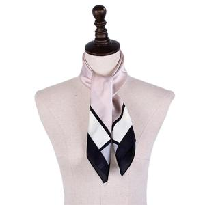 Vintage Elegant Print Silk Satin Feel Ladies Small Square Head Neck Scarf