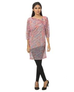 Pink Cotton Tunic For Women