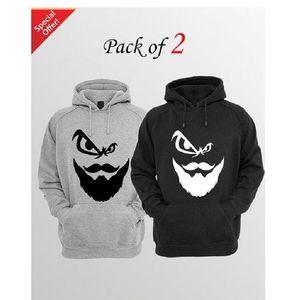 Beard Face Pack of Two Hoodie