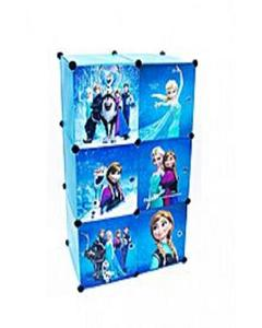 6 Cubes - Frozen Storage Cabinet & Wardrobe For Kids With Hanging Rod