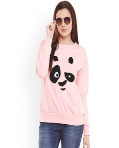 Pink Panda Printed sweat Shirt For women