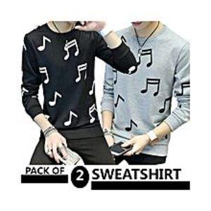 AybeezPack Of 2 Sweatshirts For Men - ABZ-2278 S