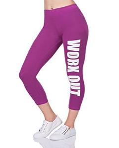 Purple Workout Printed Gym Tight
