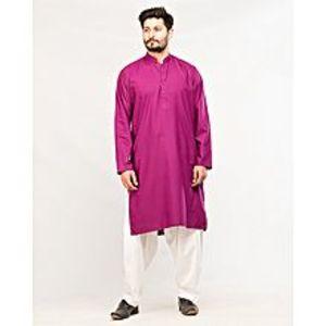 Daraz FashionPurple Blended Cotton Kurta For Men