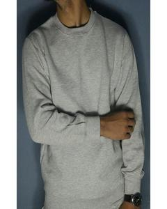 Heather Grey Fleece Sweatshirt for Men