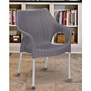 BossPack Of 4 - Plastic Res Relaxo Chairs - Grey
