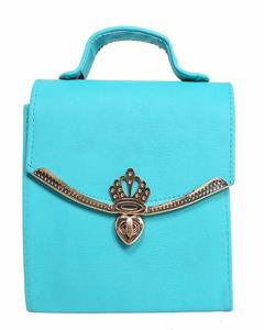 New Arrival Cross Body Ladies Hand Bag Cyan