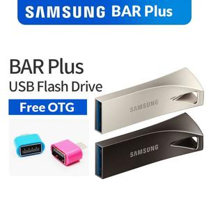 SAMSUNG 32GB 64GB BAR Plus Metal USB 3.1 Flash Drive - SAMSUNG 32GB 64GB USB Flash Drive 32GB 64GB USB - Metal Mini Pen Drive – 32GB 64GB Memory Pendrive + Free OTG Adapter