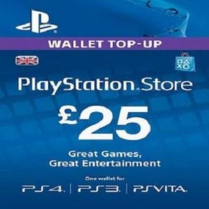 Sony PlayStation Gift Card - £25 UK REGION - PS4 - PS3 - PSVita