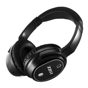 Active Noise Cancelling Headphones With Inline Microphone,ZZSY Wireless Bluetooth 4.1 Enhanced Bass Earphone, Folding Overhead and Lightweight Travel Headset