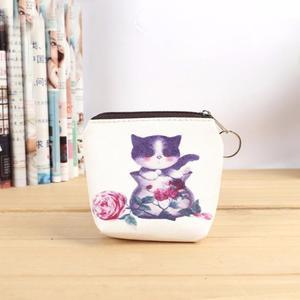 Woman's wallet Bag Cute Cat Women Girl Leather Zip Coin Purse Key Card Bag Lady Wallet