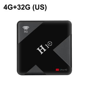 H10 Android 9.0 Smart Streamer TV Box 4GB 64GB Quad Core 6K 4GB 32GB Dual WiFi USB 3.0 Network Player
