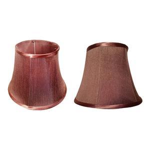 Brown Colour Lamp Shades x2