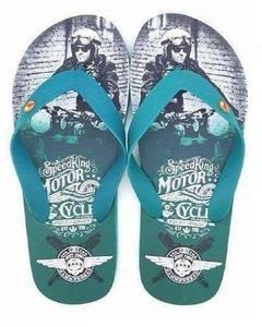 Green Rubber Slippers For Men