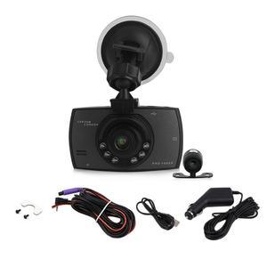 1080P 2.7 Inch HD LCD Double Lens Car Dash Camera Video DVR Cam Recorder black